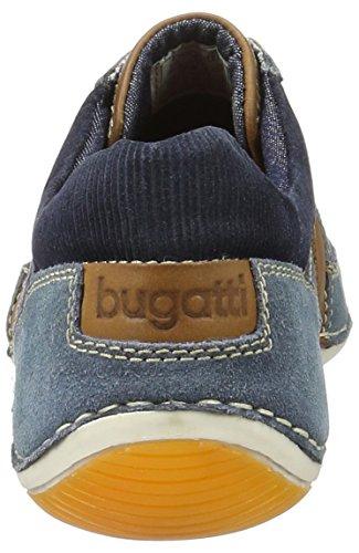 Bugatti F24701g3, Mocassins Homme Bleu (Blau/Braun 422)