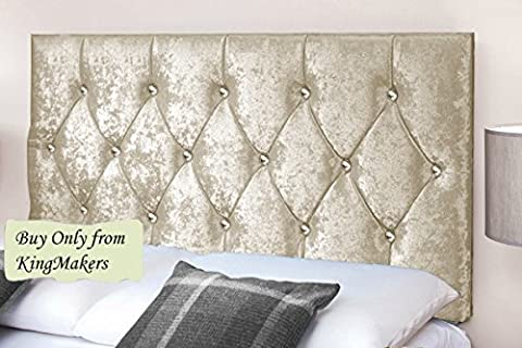 KingMakers Handmade Boutique 5FT Kingsize Bed DIAMOND Crystal Diamante Design Crush Velvet Fabric Divan Bed Headboard Crystal Diamante Designs 24