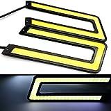 #8: EASY4BUY Waterproof U Shape COB LED DRL Car Parking Daytime Running Light
