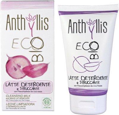 ANTHYLLIS - Latte Detergente e Struccante Biologico con Estratti di Uva Rossa - Antinfiammatorio e antiossidante con Protezione UV