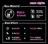 neon nights | Unsichtbare Schwarzlicht Farben | Fluoreszierende UV Leuchtfarbe | Paint Set 8 x 20ml Neon-Farben -