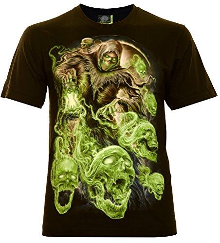 en T-Shirt Schwarz Gr. 2XL Glow in The Dark ()