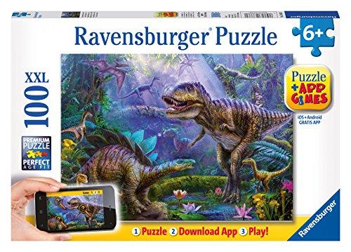 Preisvergleich Produktbild Ravensburger Spieleverlag 13664 - Reich des T-Rex - 100 Teile XXL, QR Code für die Gratis-App
