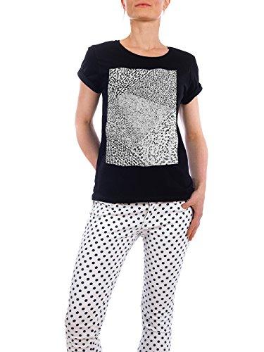 """Design T-Shirt Frauen Earth Positive """"Black & White Form 03"""" - stylisches Shirt Abstrakt Geometrie Natur von Sarah Plaumann Schwarz"""
