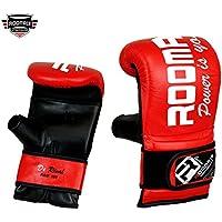 ROOMAIF - Guante de saco de boxeo Guantes de boxeo para entrenamiento Guantes Boxeo Saco Sparring Entrenamiento Mitones Muay Thai Kick Boxeo ES (negro rojo, M)