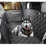 Newmeil Autoschondecke Doppelschicht für Hunde Rücksitz Robust Wasserfest (137cm * 147cm Schwarz)