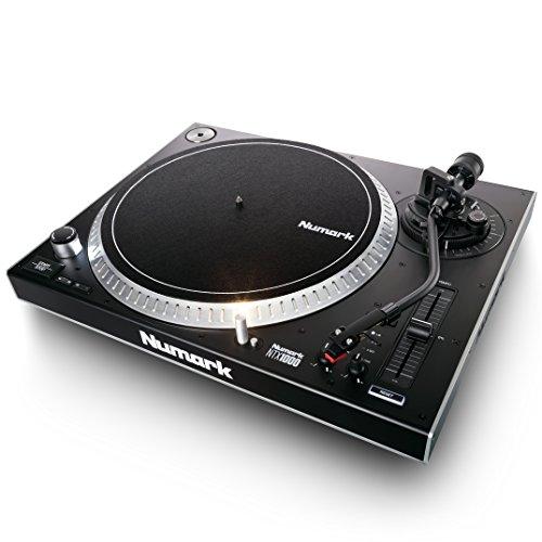 Numark NTX1000 - professioneller High-Torque DJ-Plattenspieler mit Direktantrieb, S-förmigem Tonarm, Pitch-Fader und isoliertem Gehäuse für laute Umgebungen