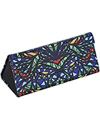 QWhing - Estuche Plegable para Gafas de Sol (Color marrón), Funda de Gafas, Multicolor5, 16.1 * 7.1 * 6cm