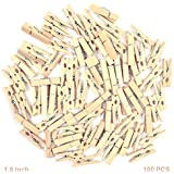 Asian Hobby Crafts Wooden Photo Paper Clips (Pack of 100)