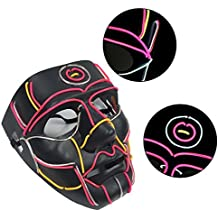 Gereton EL Máscara de línea Luminosa para Halloween, Carnaval, Horror y escayola, LED