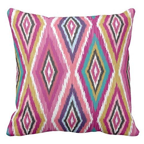 Ikat Kissen-abdeckung (Kissen deckt Dekorative 45x 45cm Farbe Pop Ikat Geometrische Überwurf Kissen für Couch quadratisch Kissen mit Reißverschluss Leinwand Kissenbezüge)