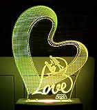 Best Bedroom Lamps - Aeon Metal Sticker 3D Night Lamp I Love Review
