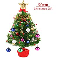CORST Mini Christmas Tree 50cm Tabletop Christmas Tree Battery Operated Lighting Artificial Christmas Tree for Xmas, Home, Kitchen, Dining Table Decor