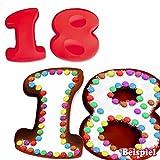 Silikonbackformen 1 & 8 für 18. Geburtstag, Kuchenformen aus Silikon im Partyset