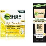 Garnier Light Complete Fairness Serum Cream, 45g and Garnier Skin Naturals Instantly Perfect Skin Perfector BB Cream, 30g