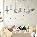 Chaoaihekele Wandaufkleber Küche Pvc Wasserdicht Abnehmbare Landhausstil Blume Aufkleber An Der Wand Wohnzimmer Home Decals Wallpaper