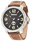 Timberland Pinkerton-Orologio da uomo al quarzo con Display analogico e cinturino in pelle, colore: marrone scuro, 14399XS/02