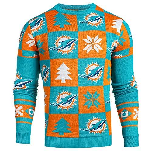 Klew Forever Collectibles Sweatshirt im Patchwork-Design, Pick Team XL Miami Dolphins