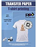 PPD DIN A4 Inkjet Transferpapier Transferfolie Bügelfolie für Tintenstrahldrucker für helle Textilien T-Shirts zum bedrucken DIN A4 x 20 Blatt PPD006-20