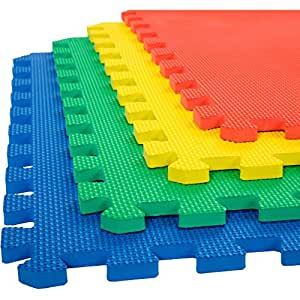 eHomeKart Numbers Play Mat , Set of 12, Multicolour