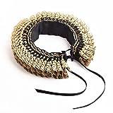 BLESSUME Annata Rinascimento Collo Gorgiera Arruffato Collare Elisabettiano Cosplay Collare (Oro)