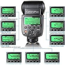 CameraPlus - Speedlite CP-N580HSS - TTL Flash Speedlite con HSS 1/8000s para camaras Nikon - Similar Nikon SB-910