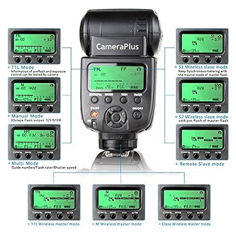 CameraPlus- CP-N580HSS - Flash TTL pour Speedlite HSS appareil photo numérique reflex Nikon - Sans (Flash Veicolo)