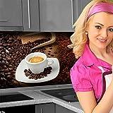 Küchenrückwand < Kaffee Mix > Premium Hart-PVC 0,4 mm selbstklebend 220x80cm