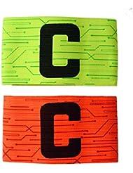 Anam fútbol fútbol Capitán brazalete, Orange+Green