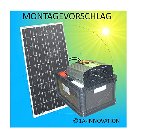 komplette 220v solaranlage t v qualit ts akku wartungsfrei 100w hochleistungs solarmodul. Black Bedroom Furniture Sets. Home Design Ideas