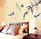 Knncch Traditionelle Chinesische Winterblüte Blumen Wandaufkleber Er Dekor Für Tv Hintergrund Die Elster Prognosen Gute Nachricht Wandtattoos