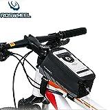 Roswheel Bike Frame Bag Touch Screen Tube Bag Phone Pocket for MTB Bike Bicycle Road Bike