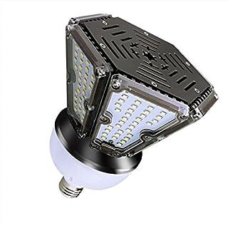 RDJM Ampoule LED, E27 50W 2700-7500K 6000LM 120X2835SMD, AC100-277V, Réverbère De LED, 360 Degrés Projecteur, pour Le Garage, Allée [Classe Énergétique A++],30W