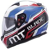 MT Blade-Casco para Moto Integral SV Super R-Double Pantalla, Color Blanco, Azul y Rojo Blanc/Bleu / Rouge Talla:Extra-Large