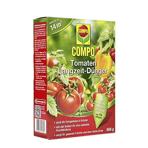 COMPO Tomaten Langzeit-Dünger für alle Arten von Tomaten, 6 Monate Langzeitwirkung, 850 g, 14m²