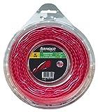 Arnold Recortadora de hilo AF 3,12, 2,7 mm x 56,4 m, redondo, girar, rojo, 1082-U5-2756