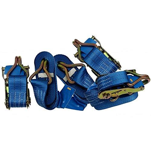 5x Ratsche Tie Down Strap Robust, 8m x 50mm Trailer LKW CS/Glühbirne R112, stoßfest X - 5x8 Trailer