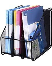 Vepson Metal Mesh Rack Document File Tray Holders File Organizer Office School Supplies Desk Accessories 3 Tier Magazine Frame