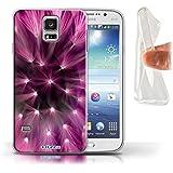 Stuff4 Gel TPU Hülle / Hülle für Samsung Galaxy S5/SV / Rosa Muster / Multi Farbe Licht Blume Kollektion