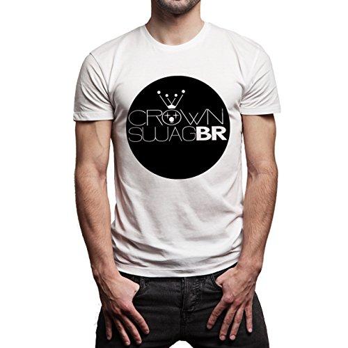 SWAG Crown Swag Br Sign Badge Herren T-Shirt Weiß