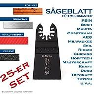 Sägebatt 45mm Metallsägeblatt Holzsägeblatt Multifunktionwerkzeug Multimaster Zubehör für Fein, Bosch u.a. 25-er SET
