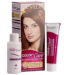Revlon Color N Care - Medium Brown 5N (Hair color cream 40g, Cream Developer 60ml, Color protection conditioner 7.5ml)