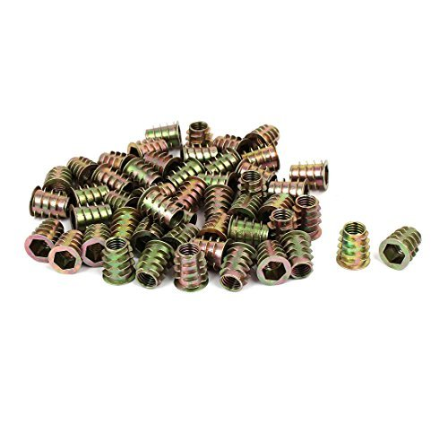 Dealmux 10 mmx19 mm Tête hexagonale Insert Vis E-nuts meubles raccords 50 pcs
