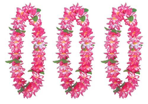 Beistle 66275 Big Island Floral Lei, 3-teilig, 91,4 cm, Weiß/Rosa