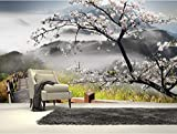 WALXMBZ Wallpaper Hintergrundbild Individuelle Fototapeten, Japanische Gehweg 3D Tapeten Wandbilder Für Das Wohnzimmer Das Schlafzimmer Tv Einstellung Wand Pvc Tapete, L350 * W256Cm