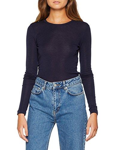 VERO MODA Damen Pullover VMVITA O-Neck LS TOP GA NOOS, Blau Night Sky, 34 (Herstellergröße: XS)