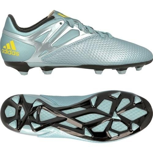 adidas Messi 15 3 FG AG  Boys  Football Boots  Bleu  Matt Ice Metallicf12 Bright Yellow Core Black   5 UK  38 EU