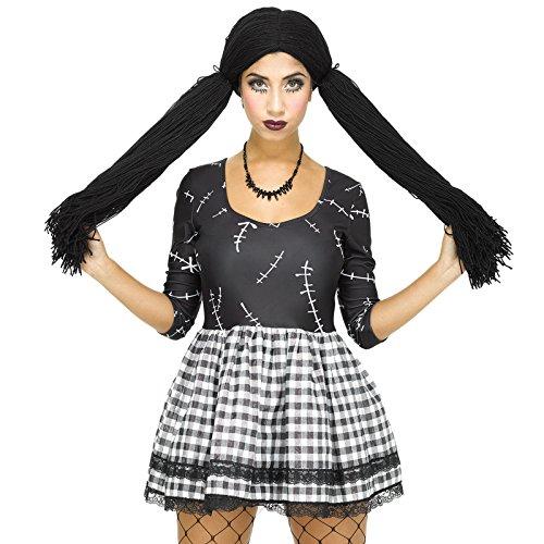 Puppenkostüm Puppe Kostüm Kleid Horror für Damen Mädchen Halloween Damenkostüm (Kleid Kostüm Puppe Halloween)