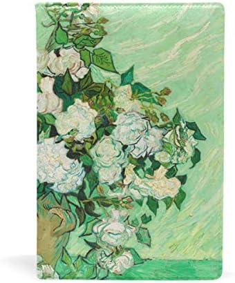 couvertures de livres van Gogh roses personnalisée personnalisée personnalisée de couverture de livre extensible jusqu'à 8,7 x 5.8in B07J1GS63J | Mode Attrayant  3f612d