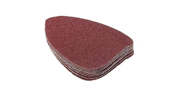 10pcs 100mm Triangle Sandpaper Velcro Sanding Sheets Mouse Sander Pads